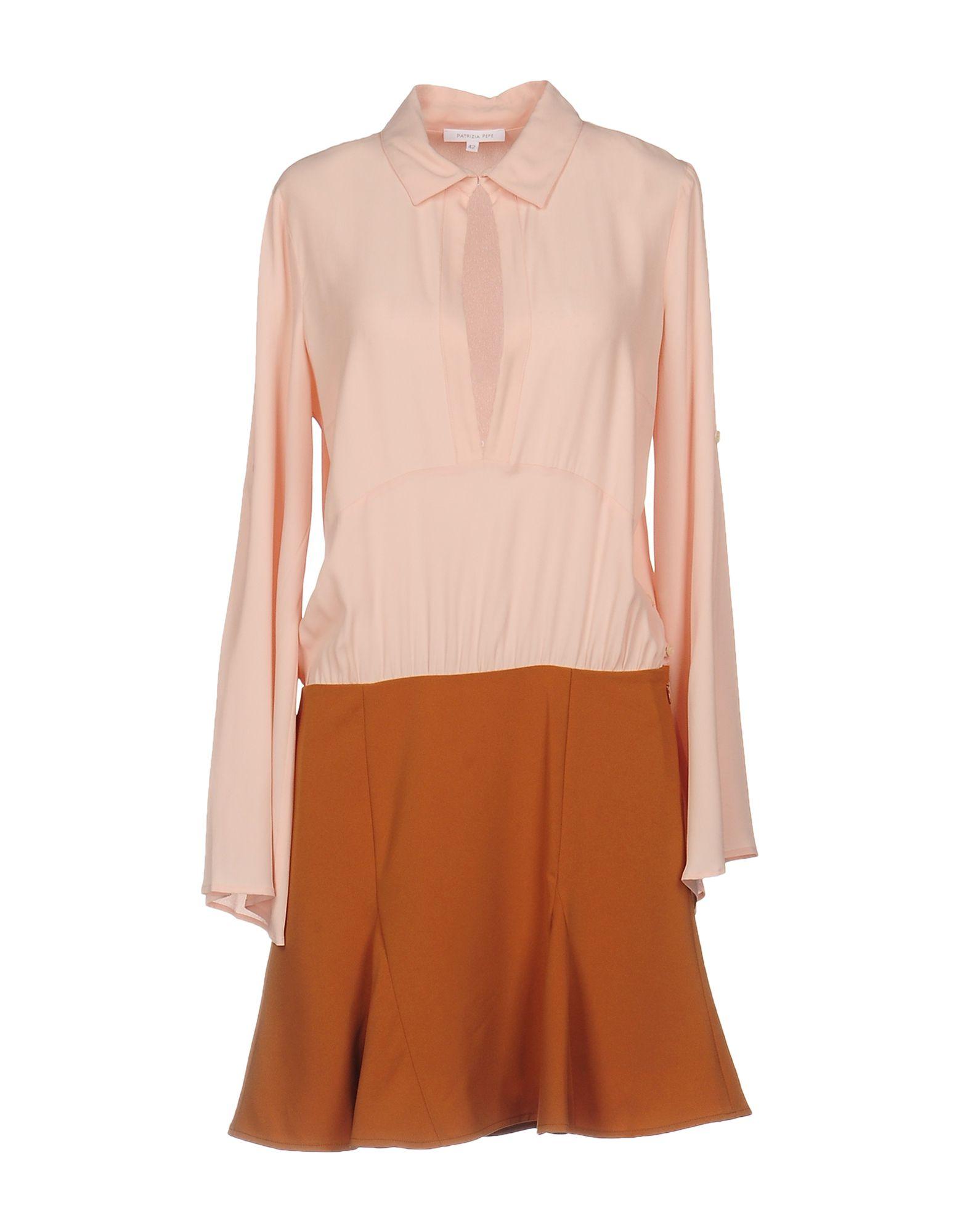 PATRIZIA PEPE Короткое платье платье рубашка fox yulia sway платье рубашка fox