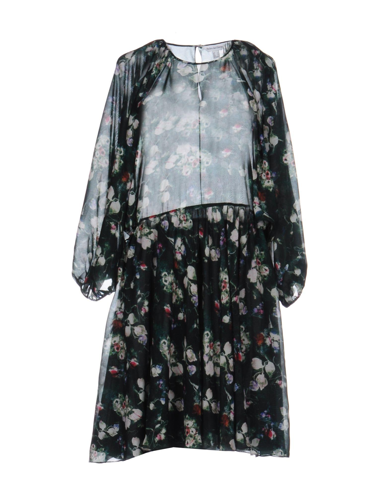 PEDRO DEL HIERRO Short Dress in Green