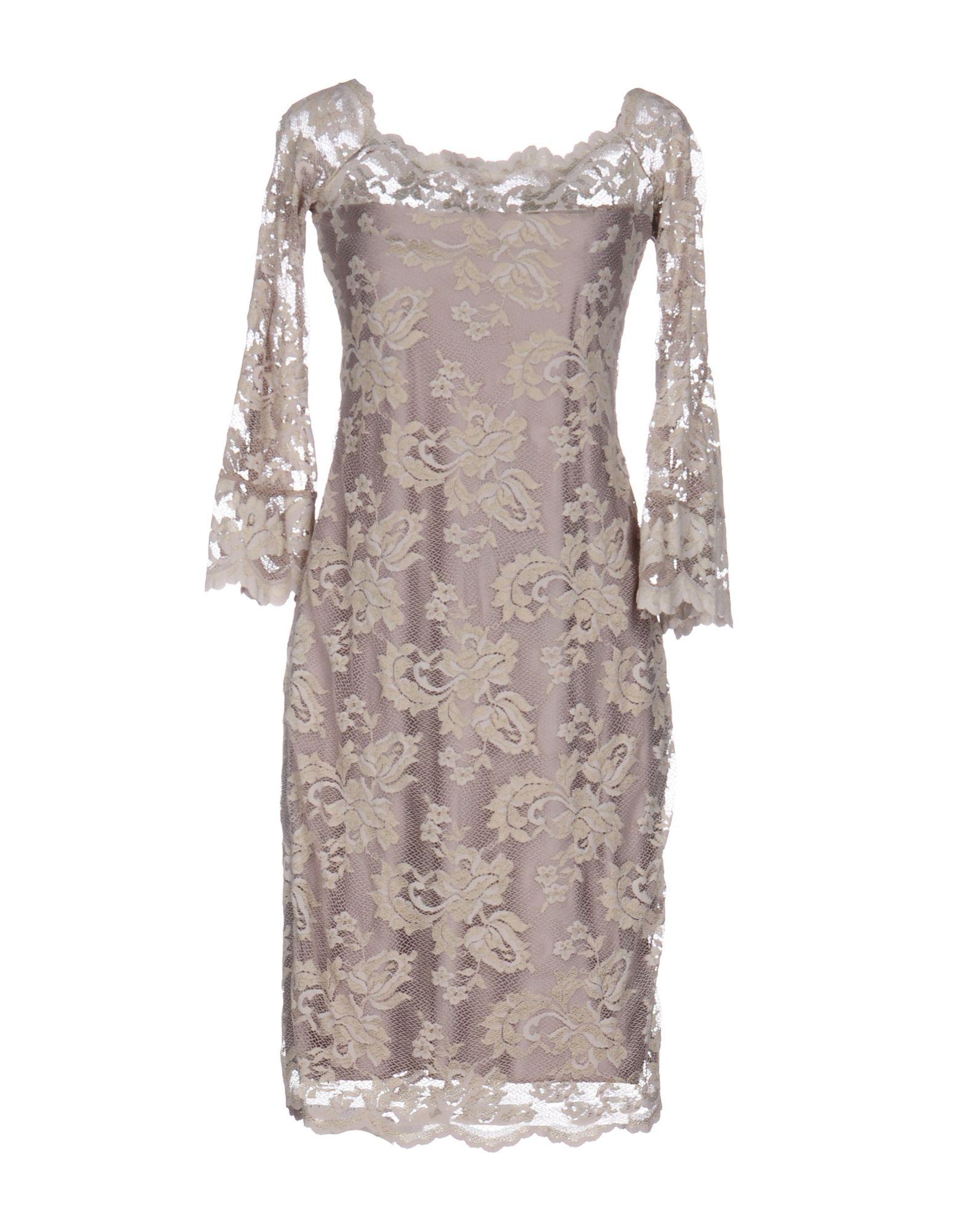 BALENSI Knee-Length Dress in Beige
