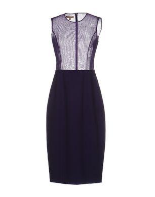 MICHAEL KORS COLLECTION Damen Knielanges Kleid Farbe Violett Größe 3 Sale Angebote Haidemühl
