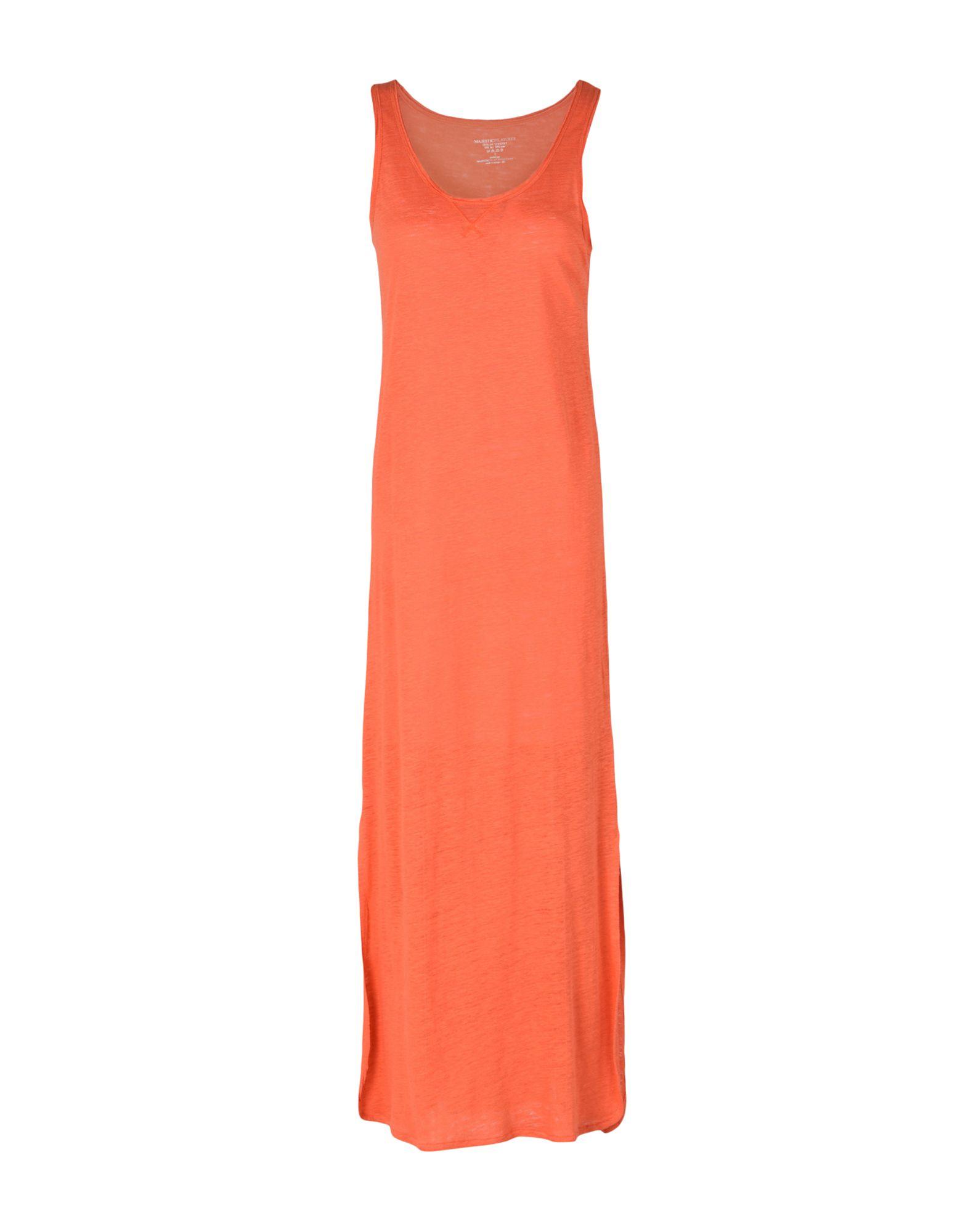 MAJESTIC FILATURES Damen Langes Kleid Farbe Koralle Größe 4