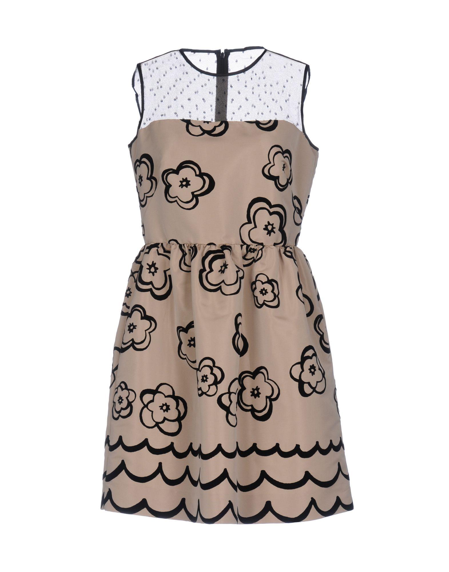 REDValentino Damen Kurzes Kleid Farbe Beige Größe 4
