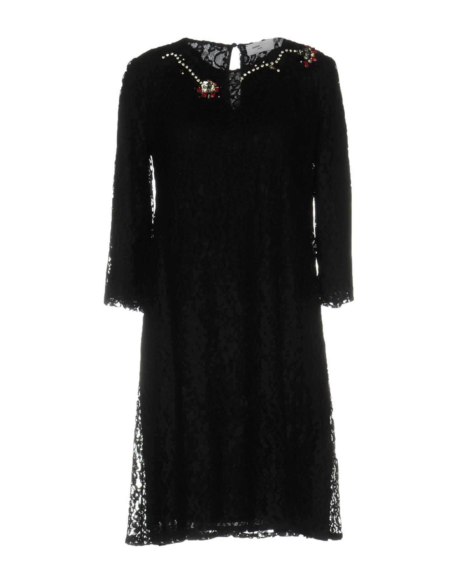 ANNA RACHELE Damen Kurzes Kleid Farbe Schwarz Größe 4