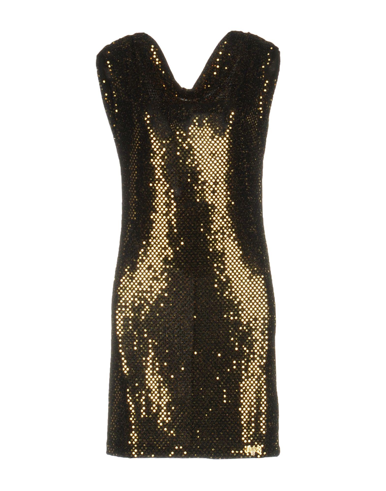 EAN 13 Damen Kurzes Kleid Farbe Gold Größe 5
