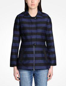 ARMANI EXCHANGE TONAL STRIPED MODERN JACKET Jacket Woman f