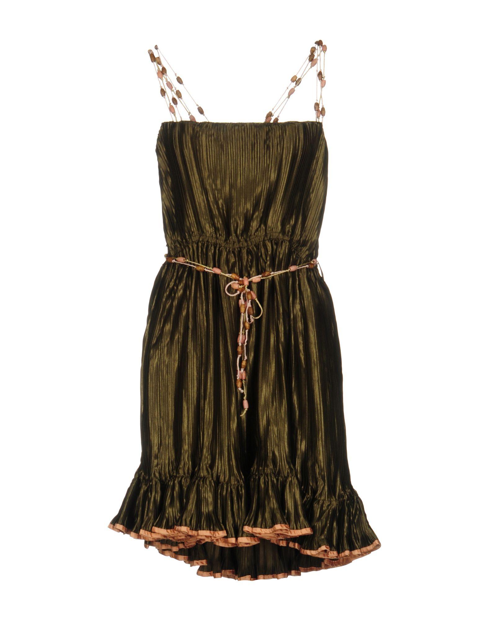 GALLIANO Короткое платье galliano платье galliano 34vr743067773 леопард
