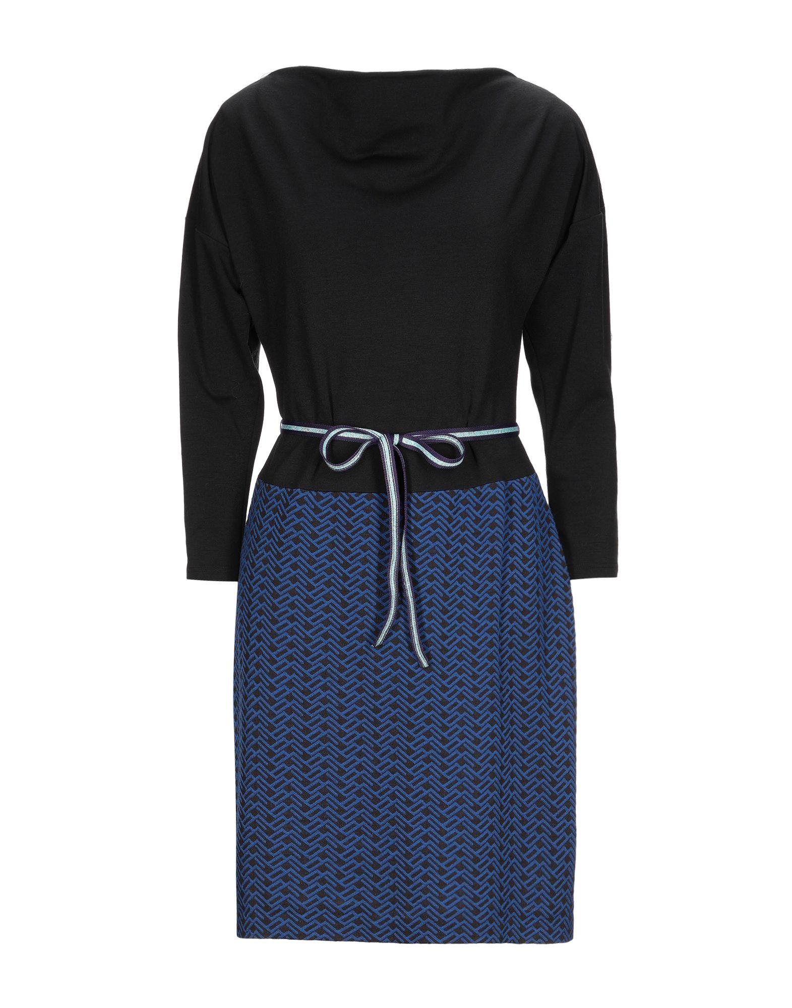 《セール開催中》CONNI KAMINSKI レディース ミニワンピース&ドレス ブラック L PES - ポリエーテルサルフォン 55% / ウール 45%