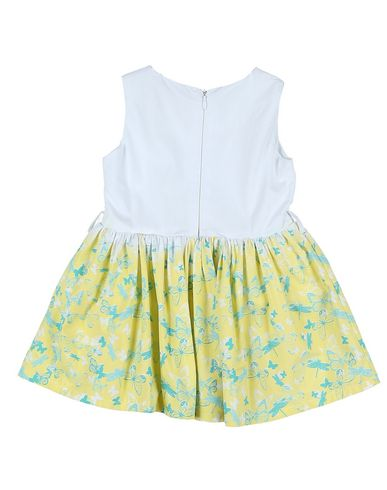 PATRIZIA PEPE Baby Kleid Gelb Größe 9 100% Baumwolle