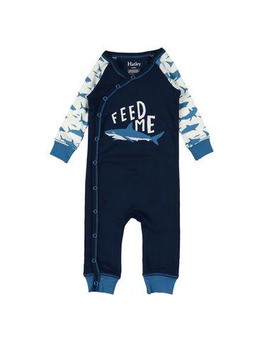 YOOX.COM(ユークス)HATLEY ボーイズ 0-24 ヶ月 乳幼児用ロンパース ダークブルー 6 オーガニックコットン 100%