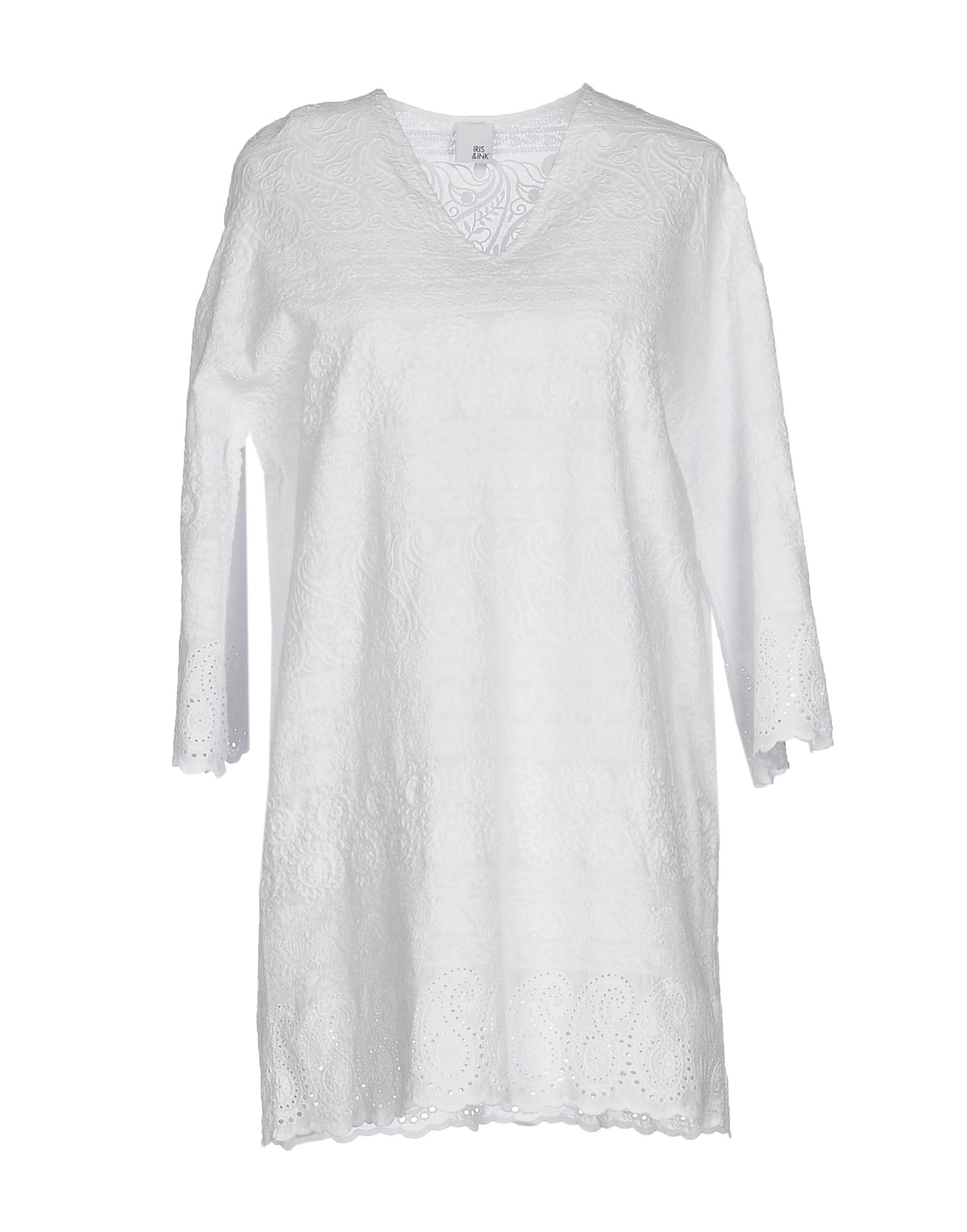 IRIS & INK Короткое платье модное сексуальное backless шнурок вышитый крест ремень slim трубчатое платье венчания