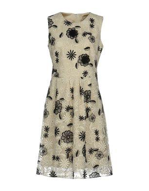 LELA ROSE Damen Kurzes Kleid Farbe Elfenbein Größe 3 Sale Angebote Schwarzheide