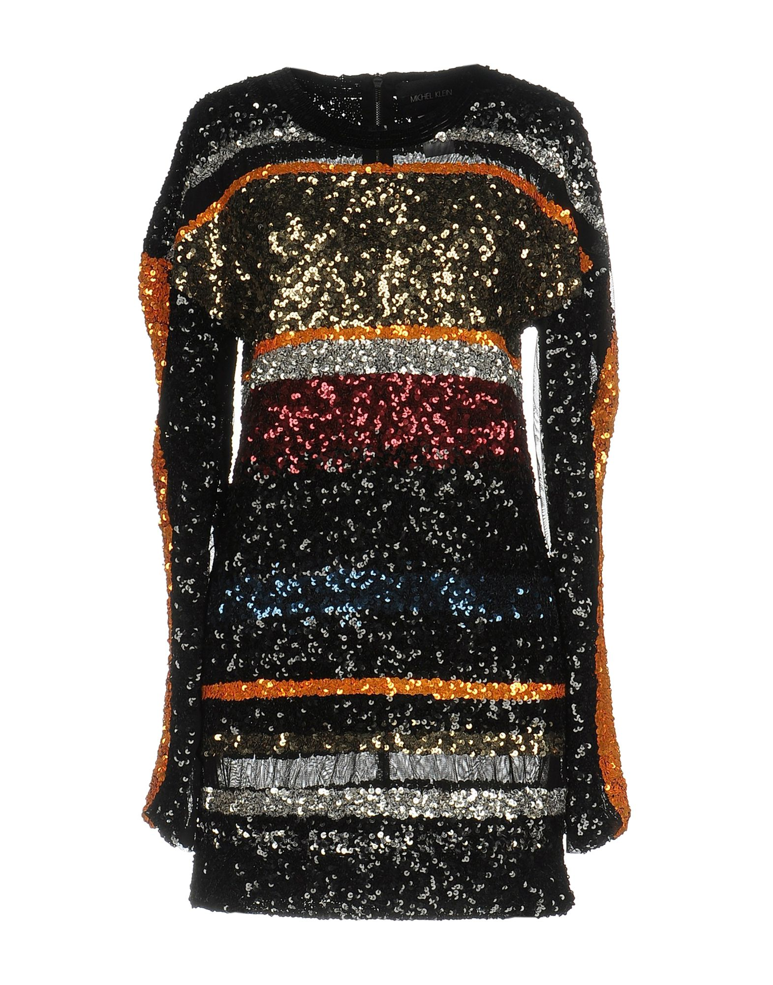 цена MICHEL KLEIN Короткое платье онлайн в 2017 году