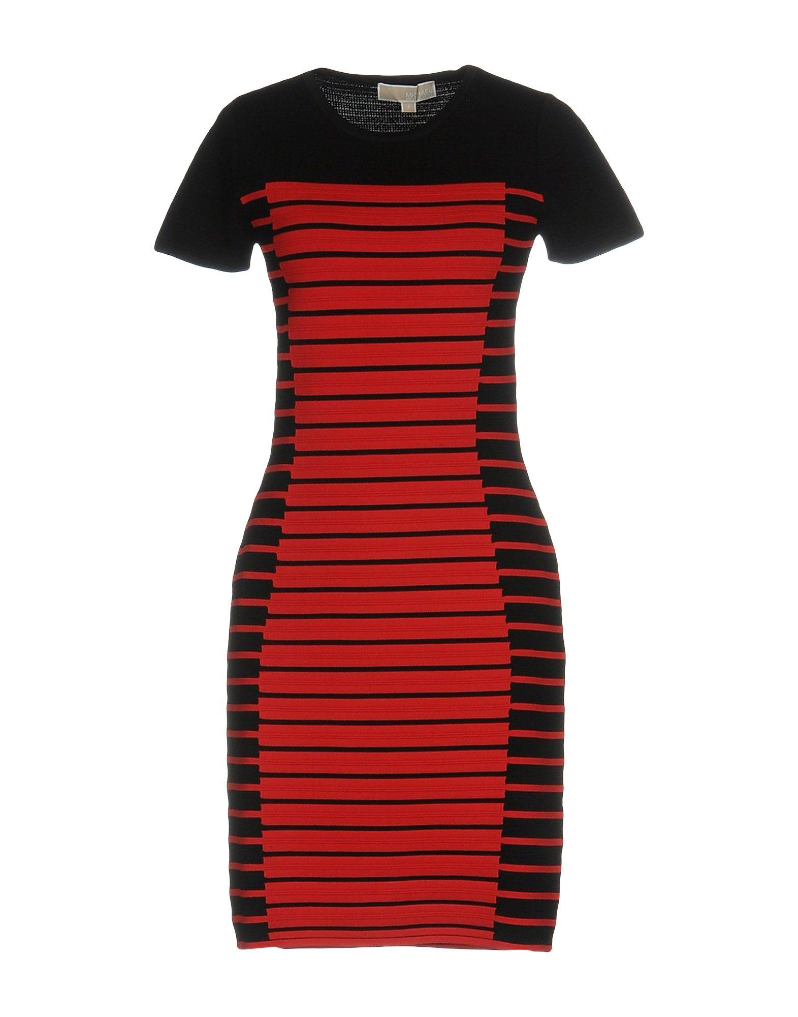Короткое платье  Красный цвета