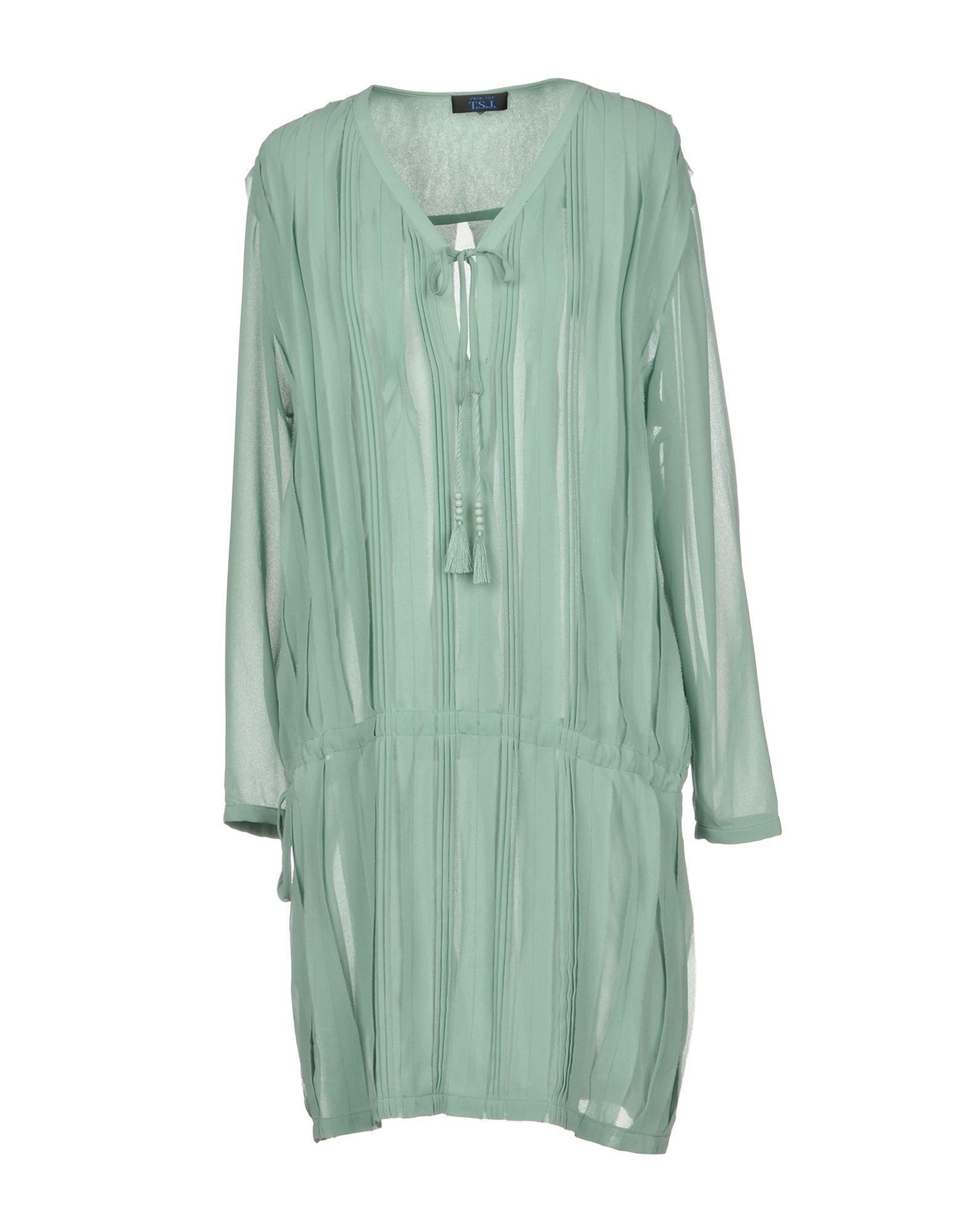 Фото TWIN-SET JEANS Короткое платье. Купить с доставкой