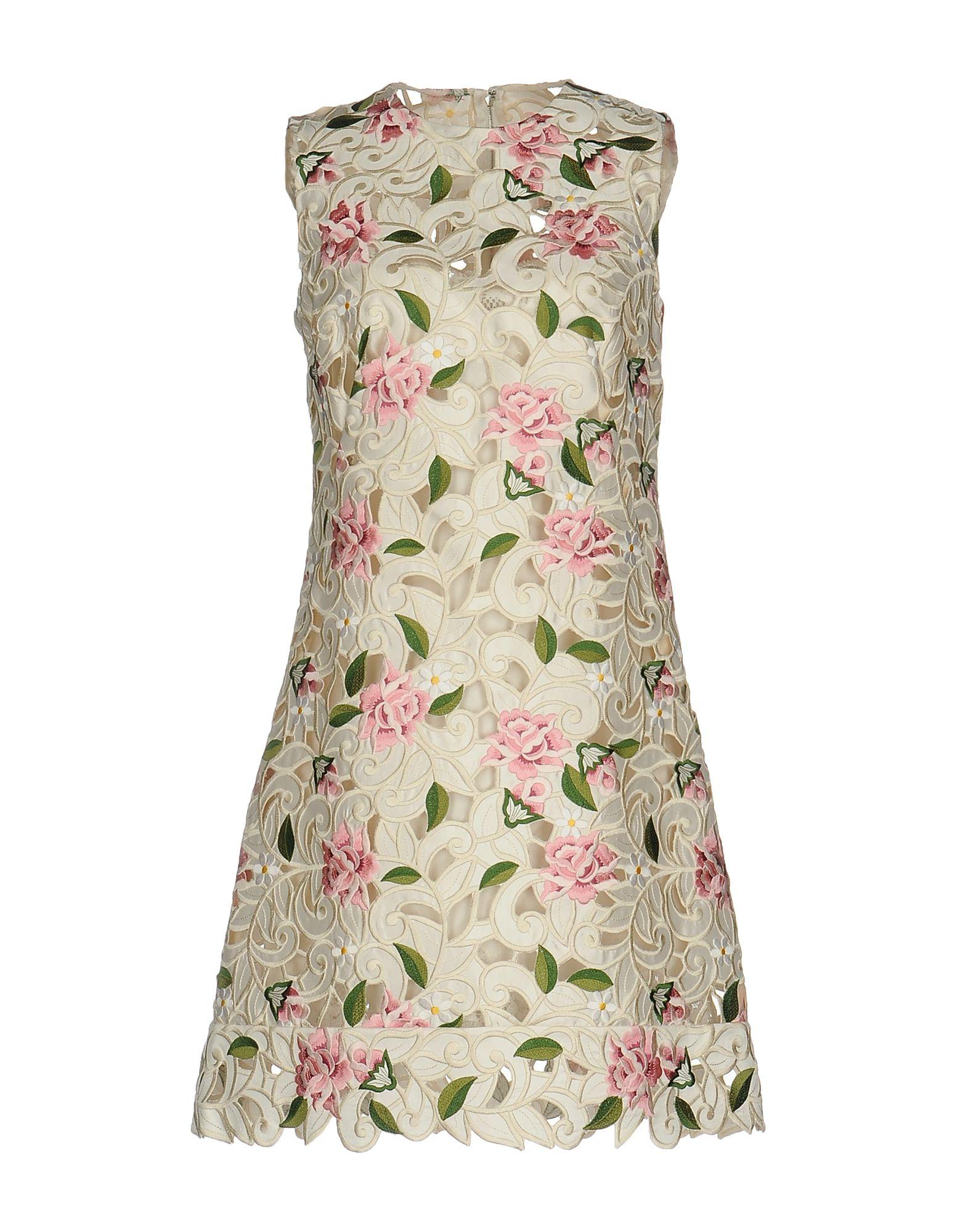 цена DOLCE & GABBANA Короткое платье онлайн в 2017 году