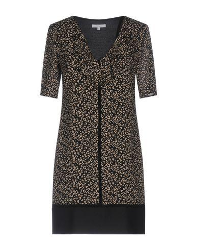 PATRIZIA PEPE Damen Kurzes Kleid Beige Größe 32 70% Viskose 30% Seide Polyester Metall