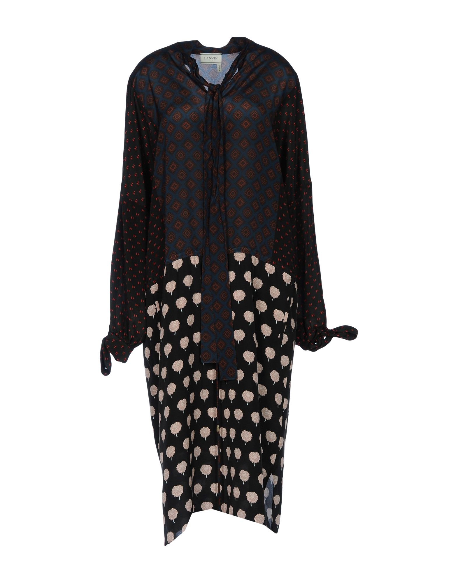 цена LANVIN Платье до колена онлайн в 2017 году