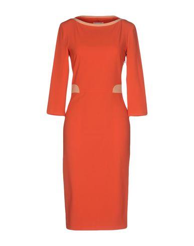 PATRIZIA PEPE Damen Knielanges Kleid Orange Größe 34 89% Polyester 11% Elastan