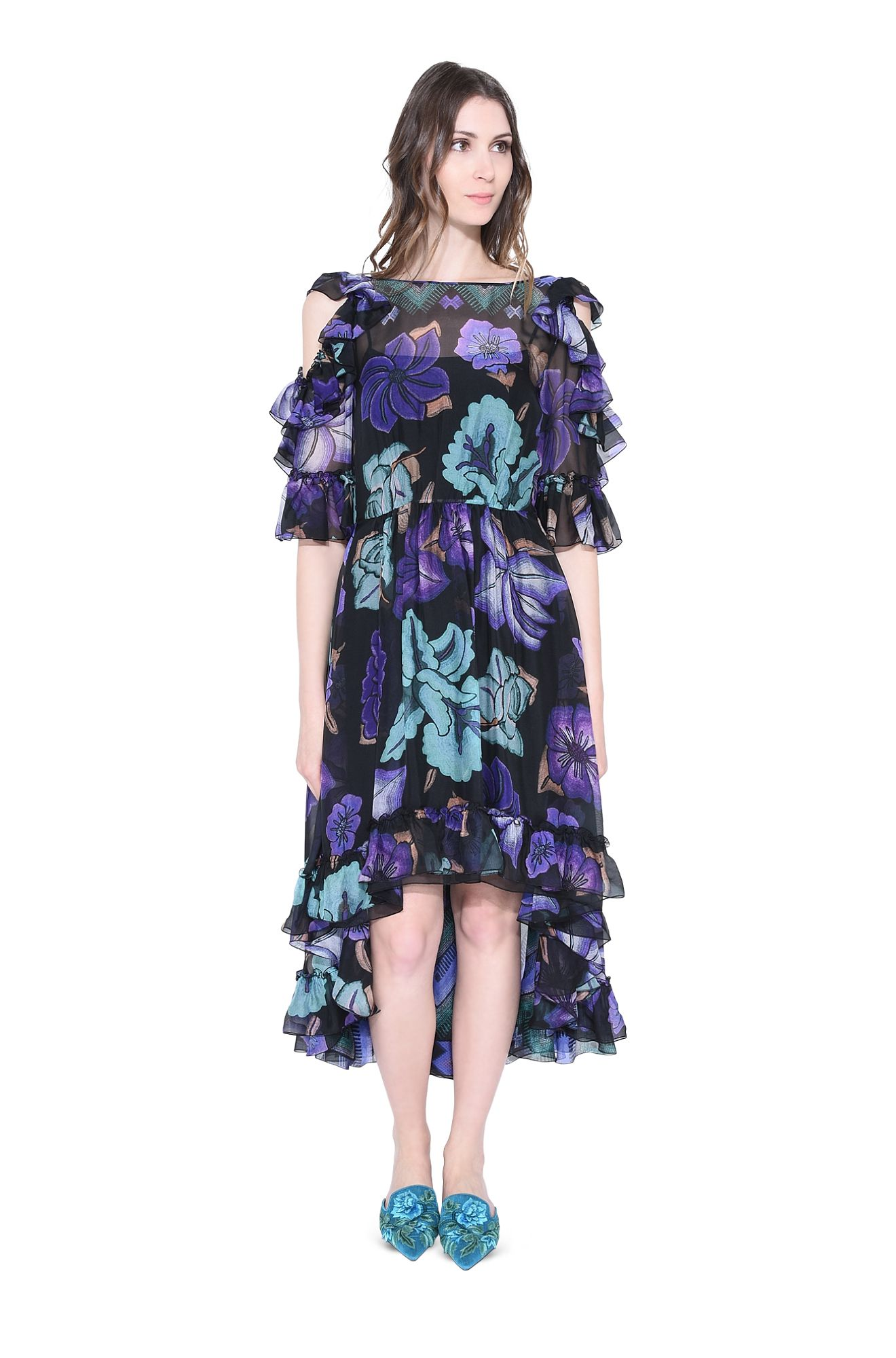 BLOOMING ASYMMETRIC DRESS