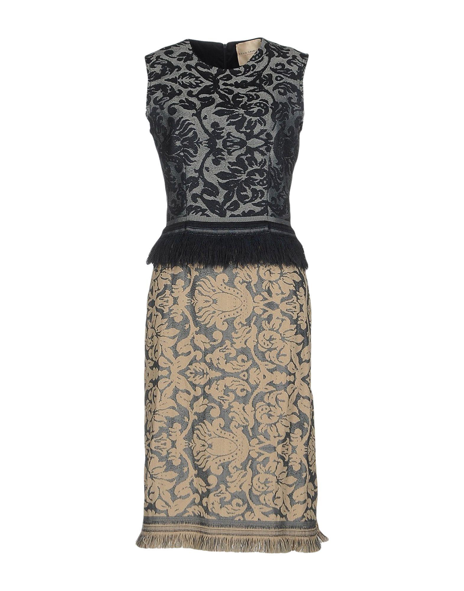 Фото ERIKA CAVALLINI Платье до колена. Купить с доставкой