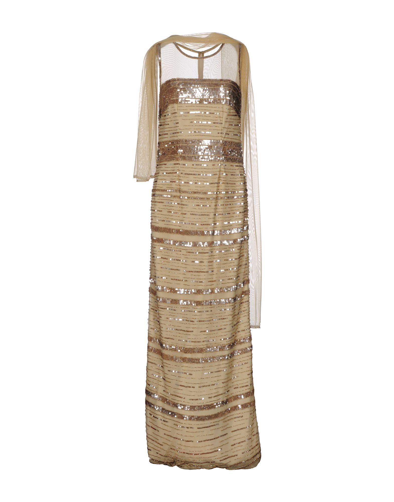 MUSANI COUTURE Damen Langes Kleid Farbe Gold Größe 4