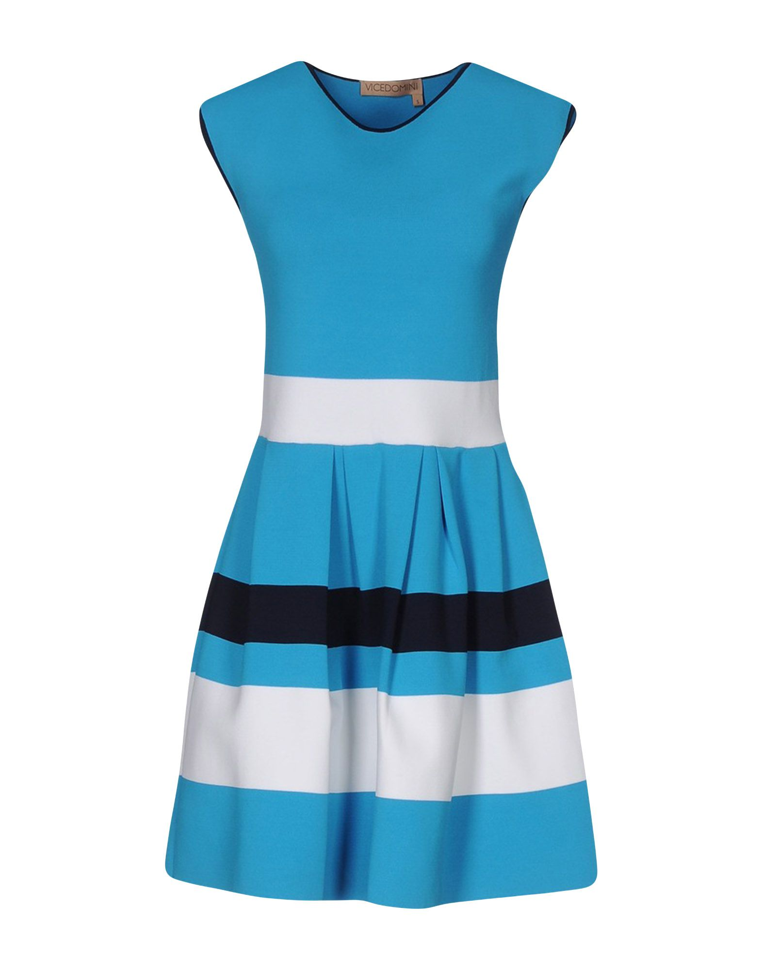 VICEDOMINI Short Dress in Azure