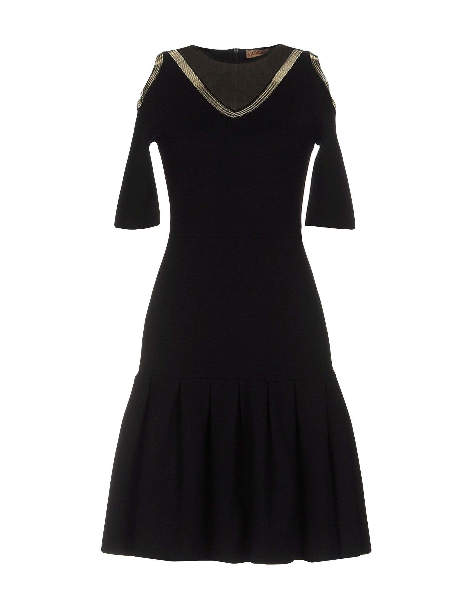 VICEDOMINI Short Dress in Black