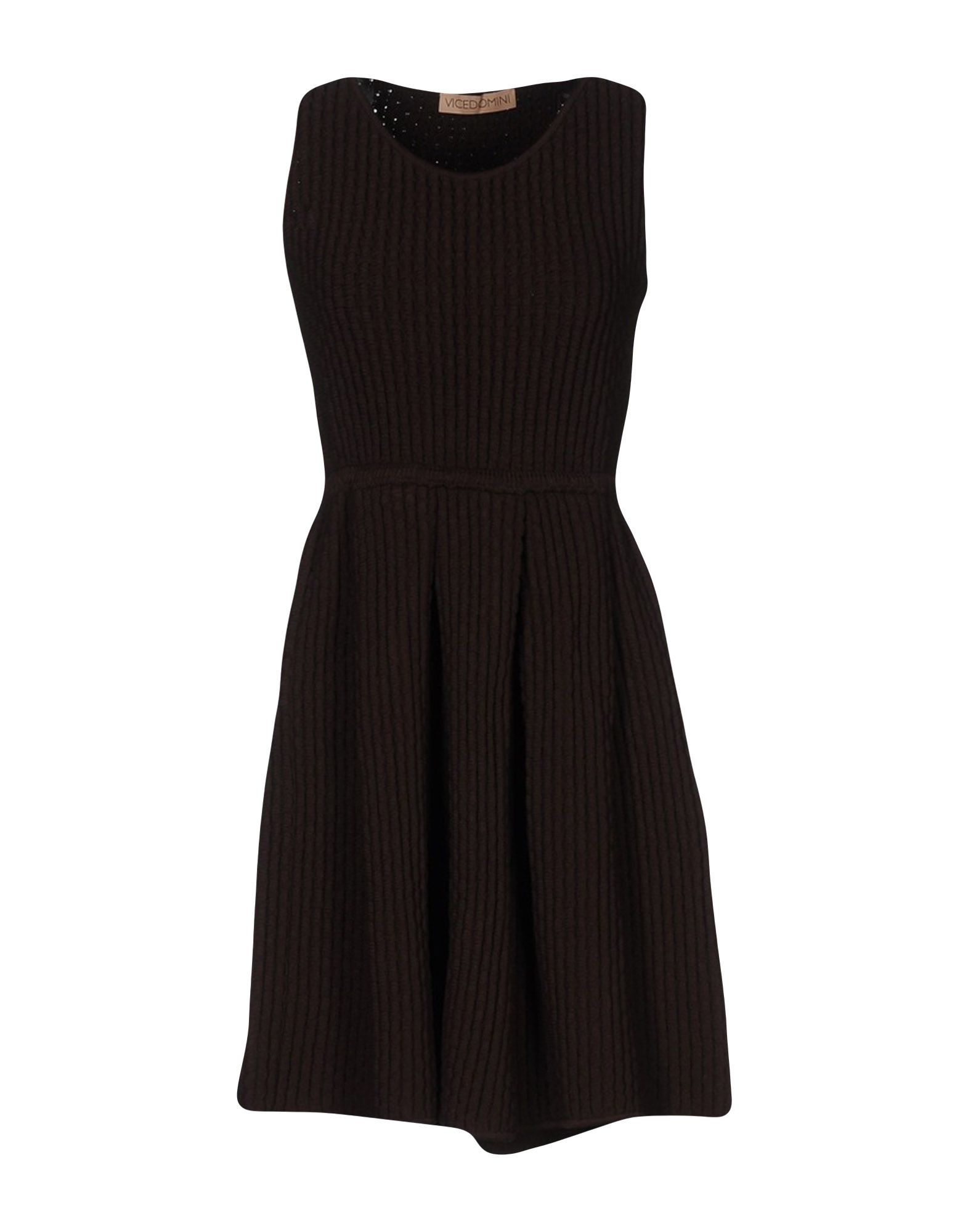 VICEDOMINI Short Dress in Cocoa