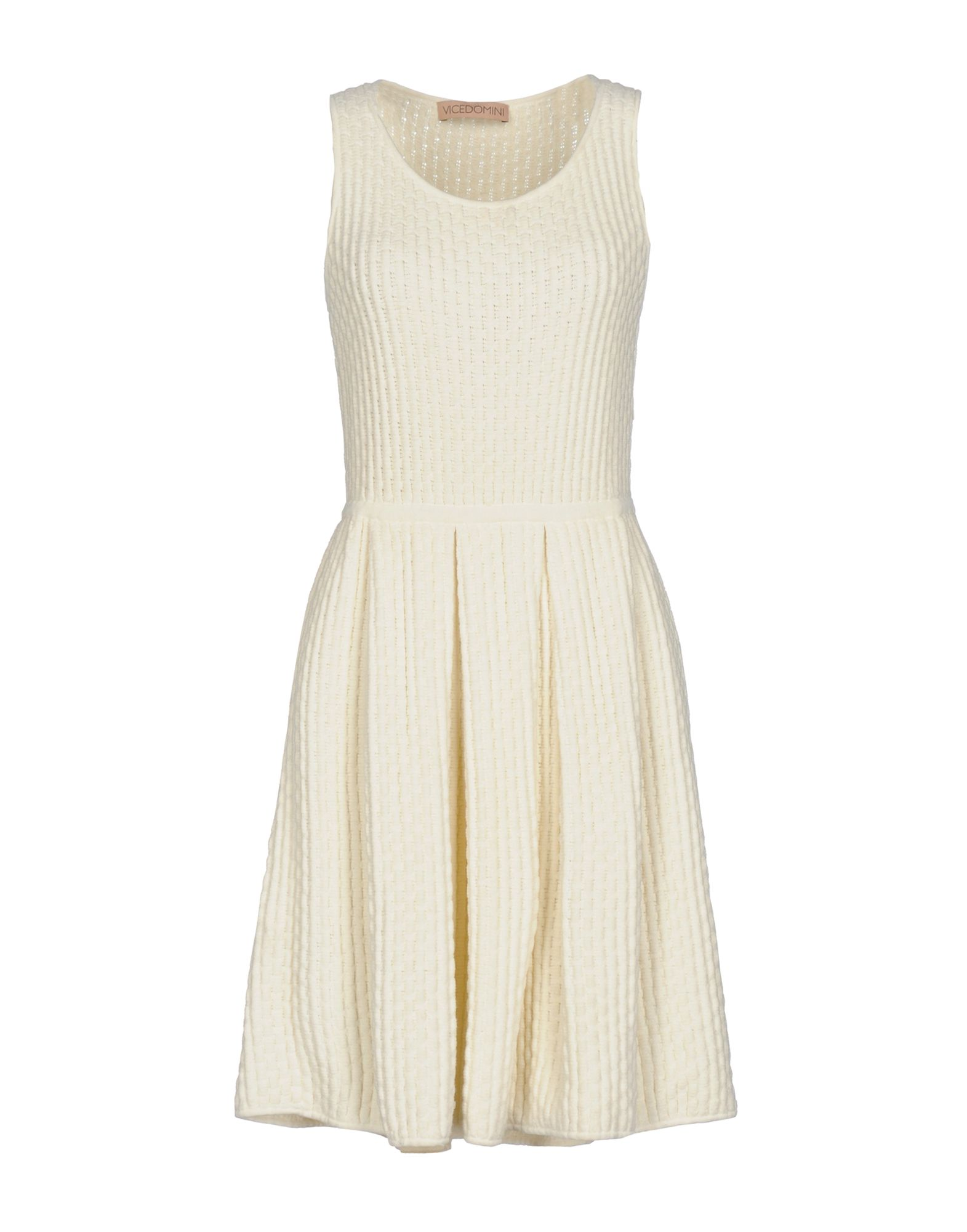 VICEDOMINI Short Dress in Ivory