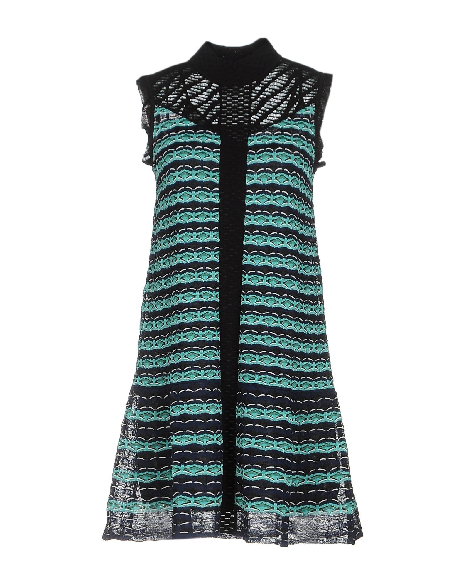 Фото - M MISSONI Короткое платье сибирская женщина 2017 лето стоять воротник платье большой платье темперамент платье s72r0236a28m цвет m