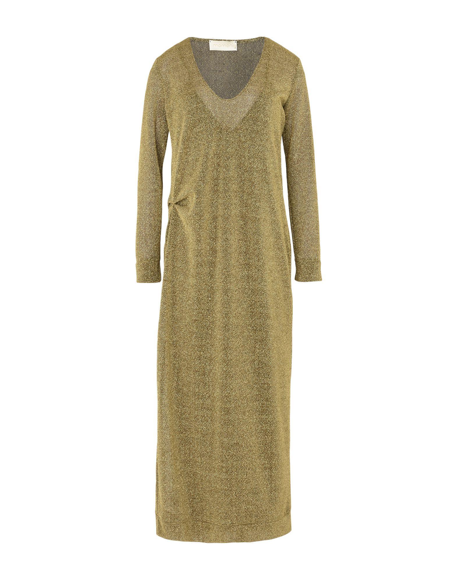 MOMONÍ Damen Langes Kleid Farbe Gold Größe 4