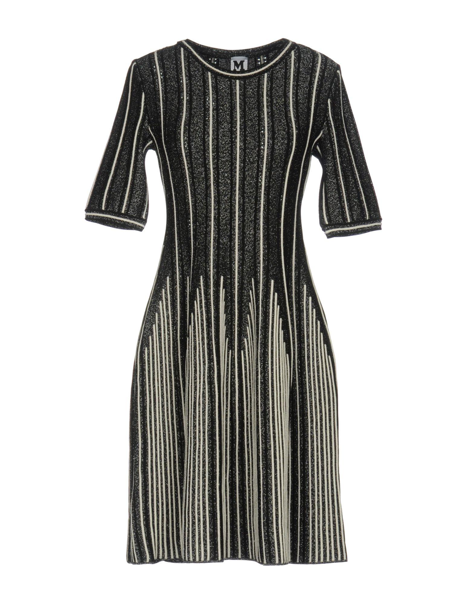 M MISSONI Damen Kurzes Kleid Farbe Schwarz Größe 3