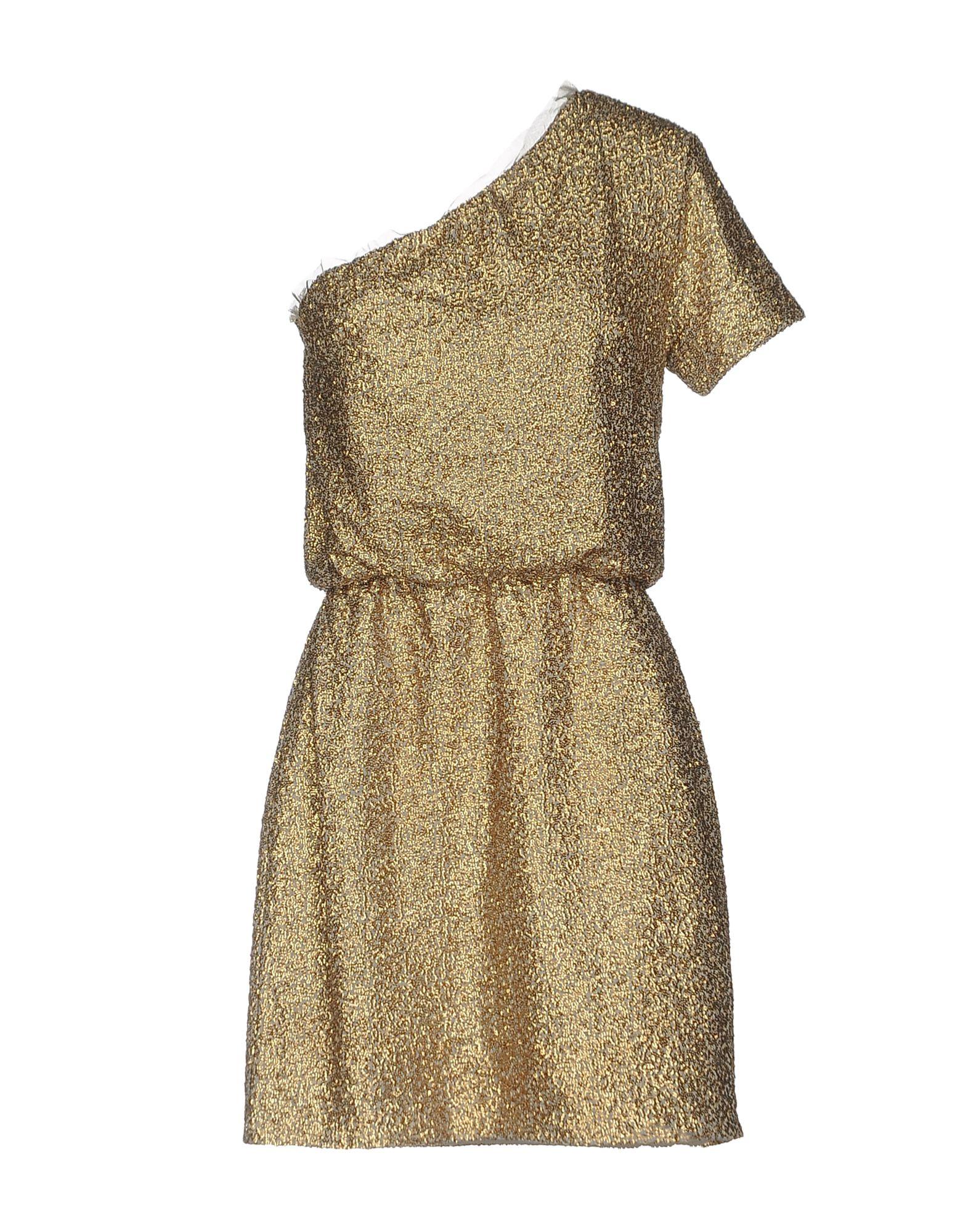 INTROPIA Damen Kurzes Kleid Farbe Gold Größe 6