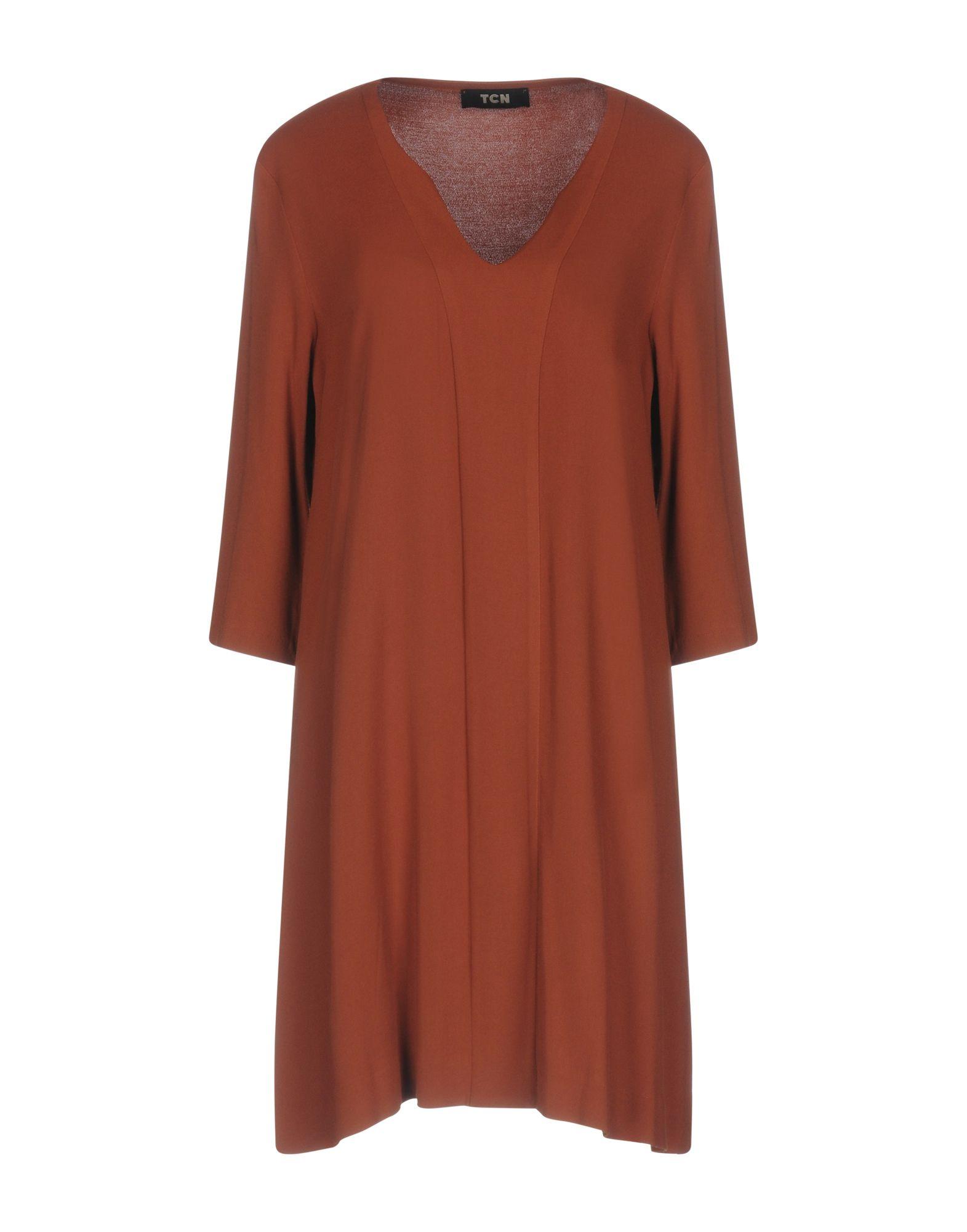 TOTON COMELLA - TCN Damen Kurzes Kleid Farbe Braun Größe 6