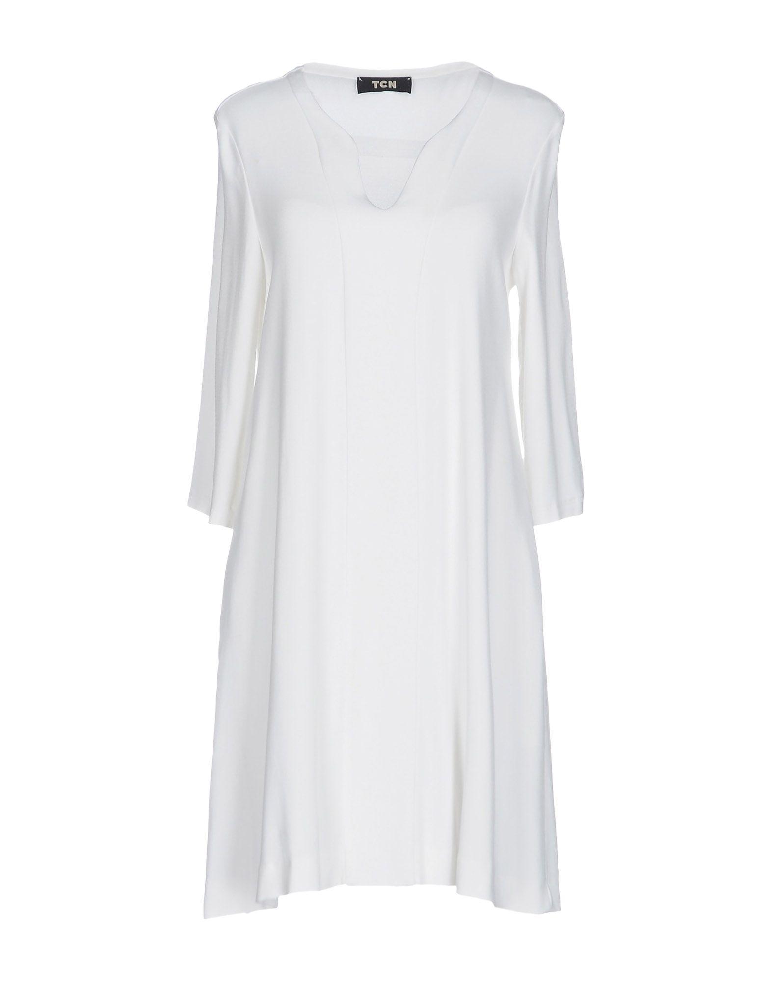 TOTON COMELLA - TCN Damen Kurzes Kleid Farbe Weiß Größe 5