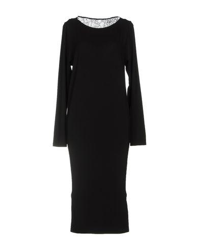 PATRIZIA PEPE Damen Knielanges Kleid Schwarz Größe 32 92% Viskose 8% Elastan Polyamid