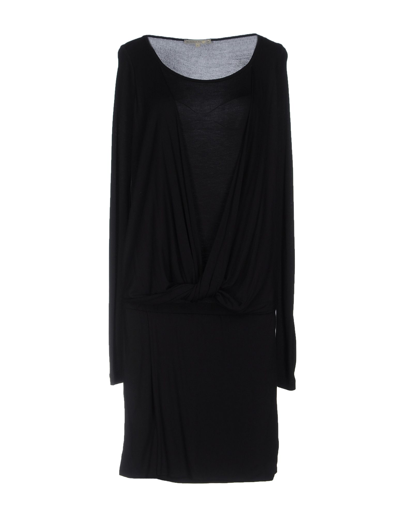 PATRIZIA PEPE Платье до колена patrizia pepe платье из ткани с креповым эффектом