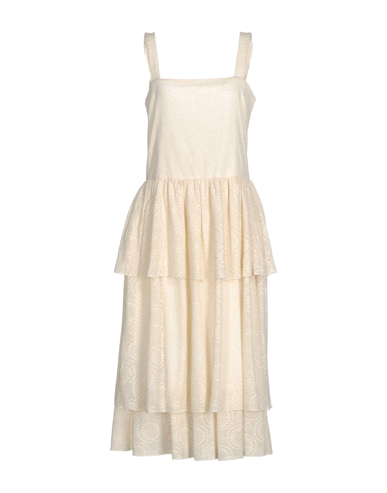 LA KICCA Платье длиной 3/4 беби долл avanua tessie цвет желтый размер s m