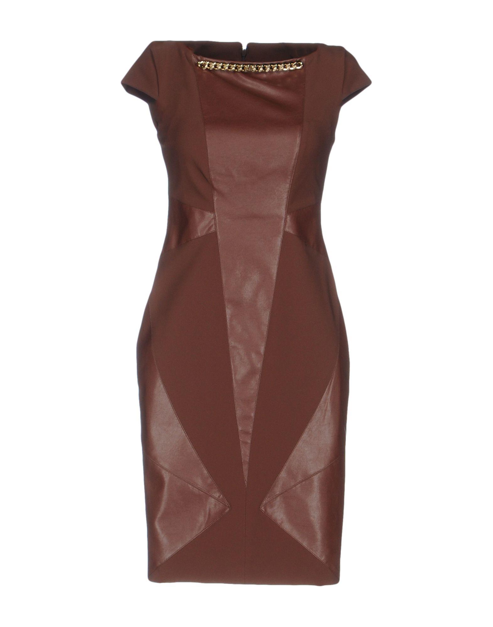 Фото ELISABETTA FRANCHI GOLD Короткое платье. Купить с доставкой
