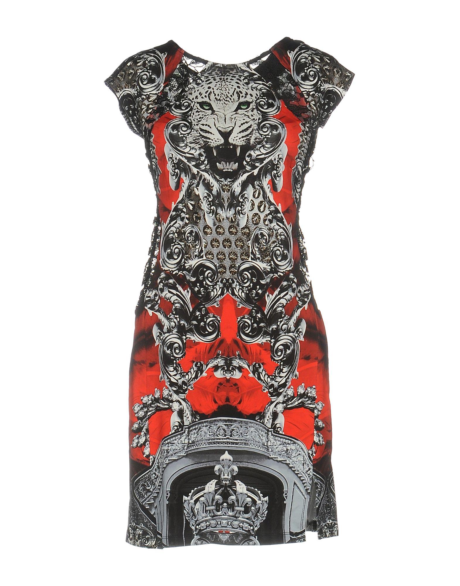 PHILIPP PLEIN Damen Kurzes Kleid Farbe Schwarz Größe 3