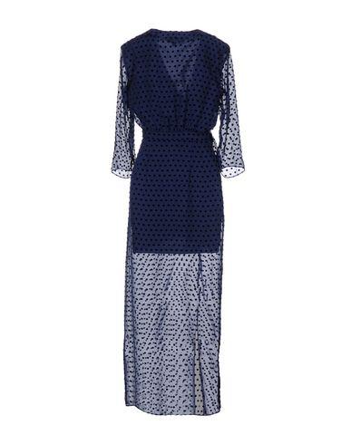 Фото 2 - Женское длинное платье SALONI темно-синего цвета