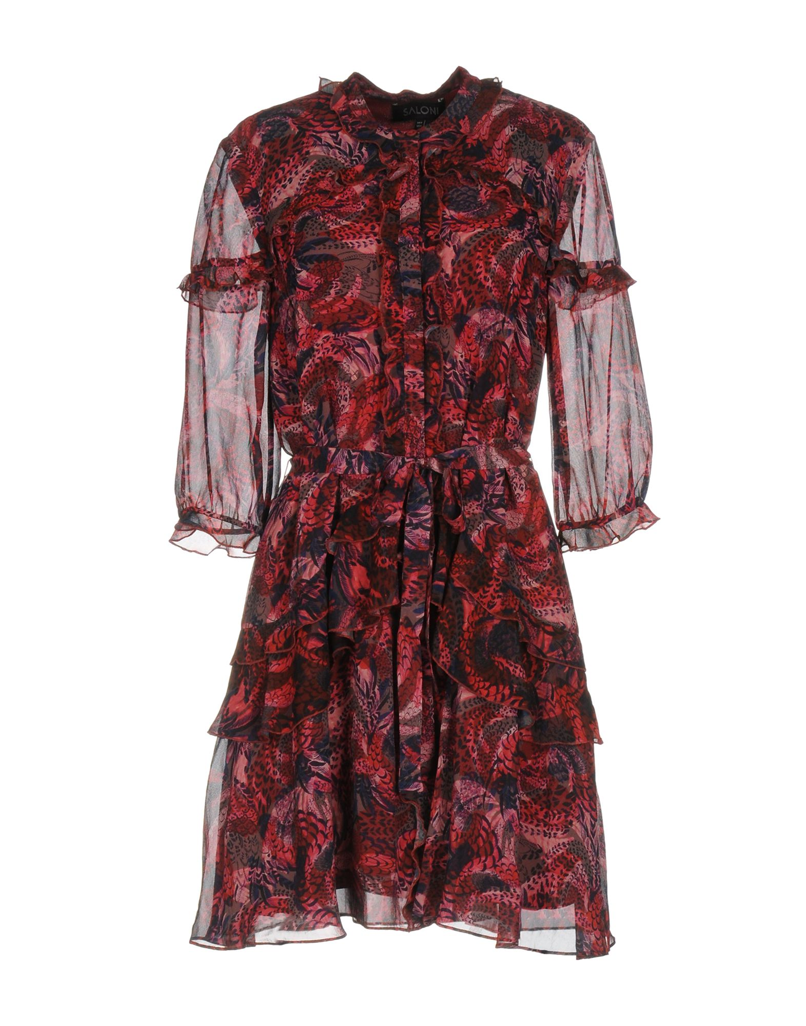 SALONI Короткое платье saloni talisman crema 43x43