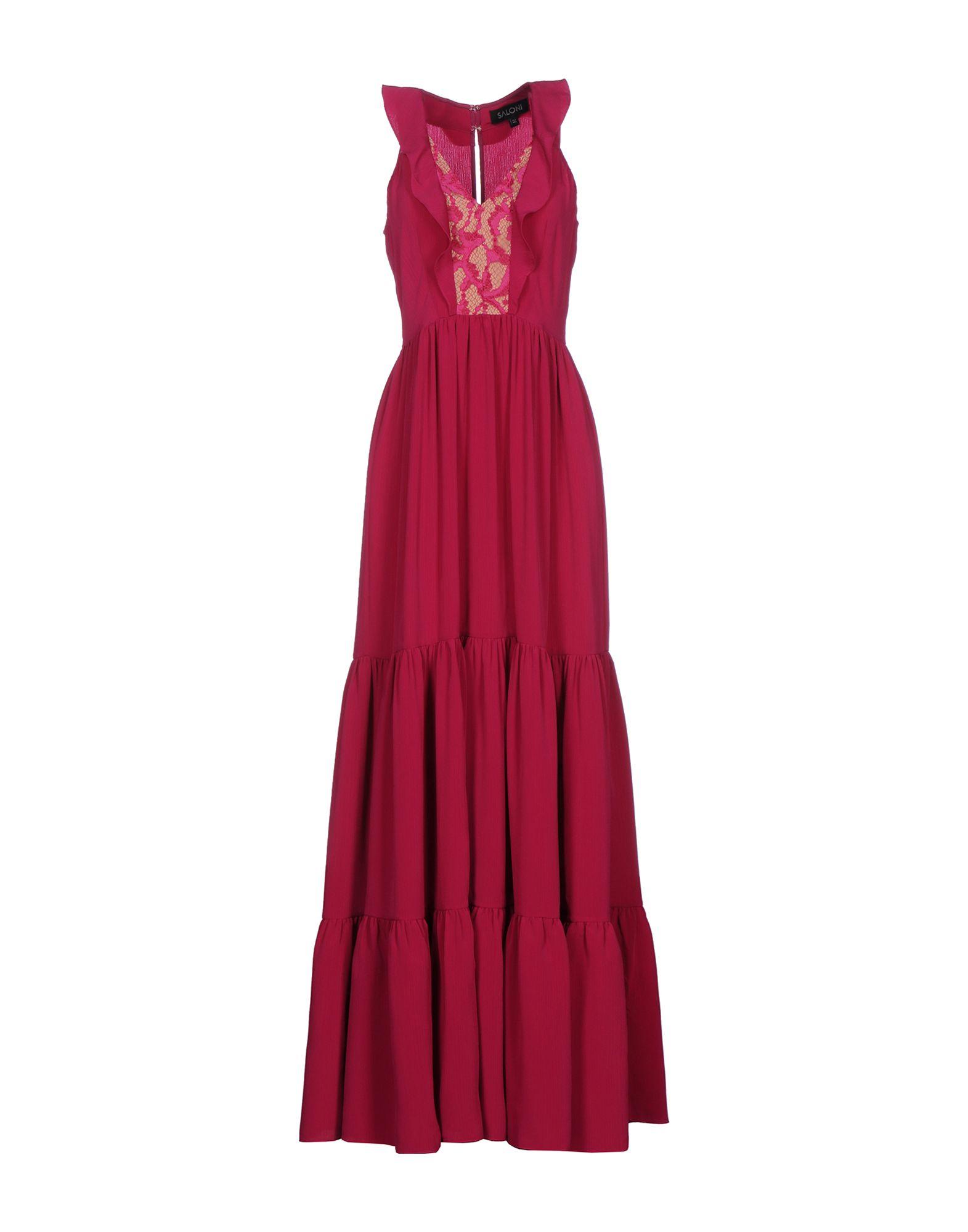 SALONI Длинное платье saloni talisman crema 43x43
