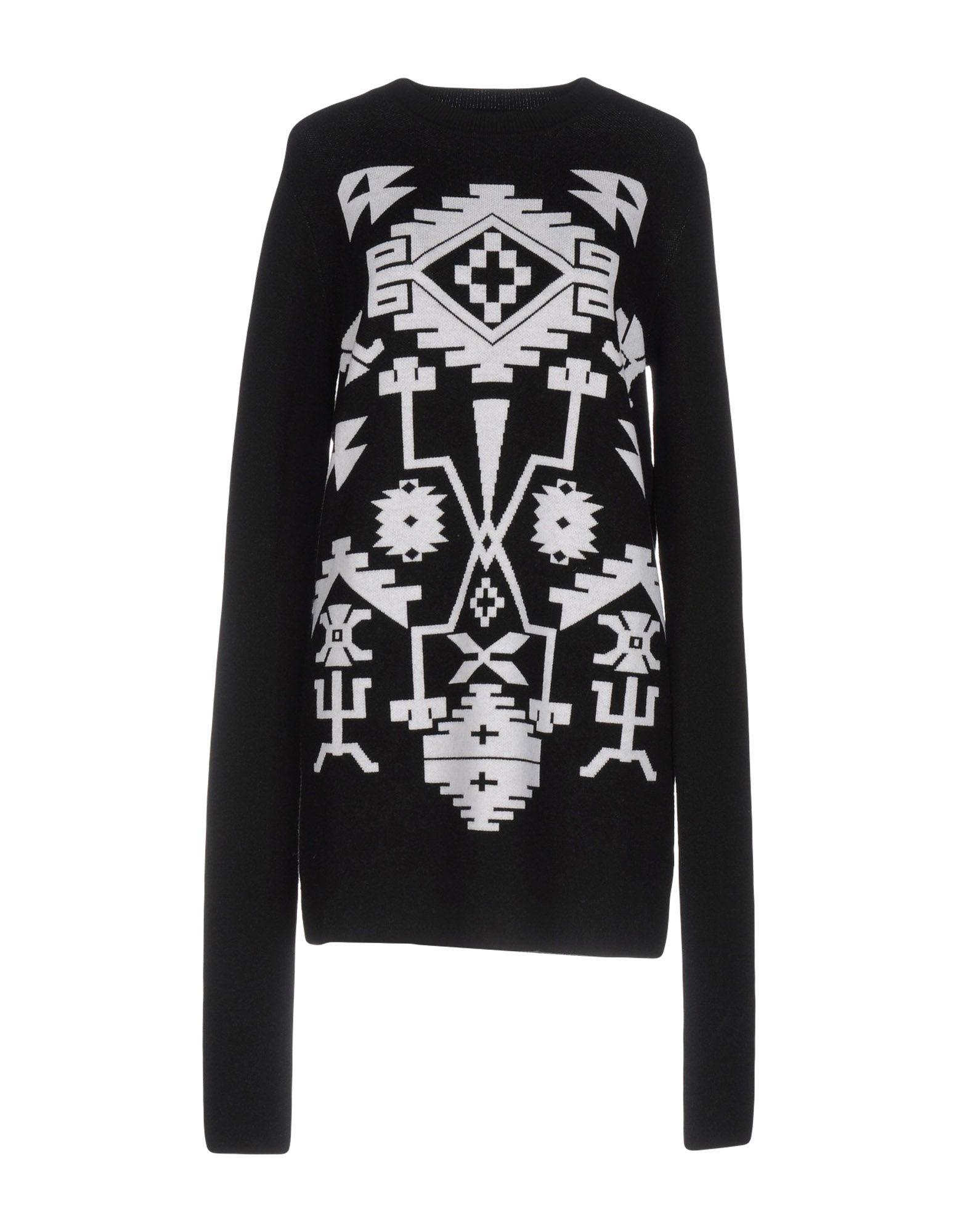 《送料無料》MARCELO BURLON レディース ミニワンピース&ドレス ブラック XS ウール 100%