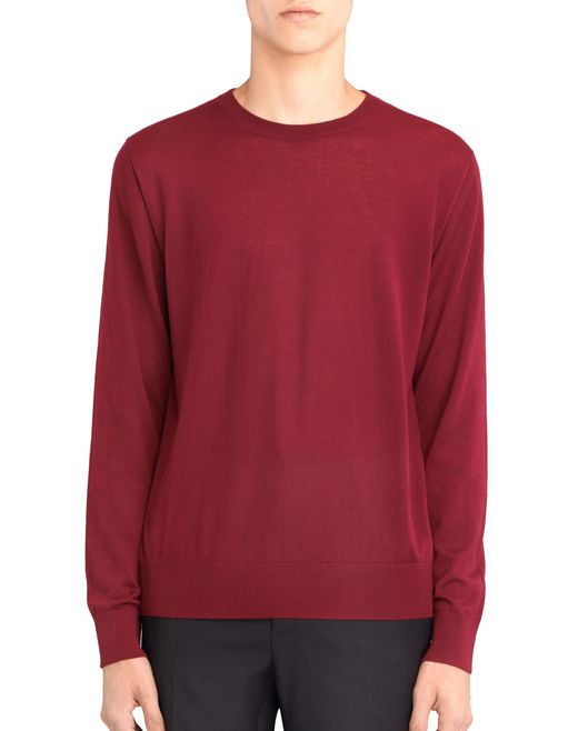 lanvin crew neck sweater men