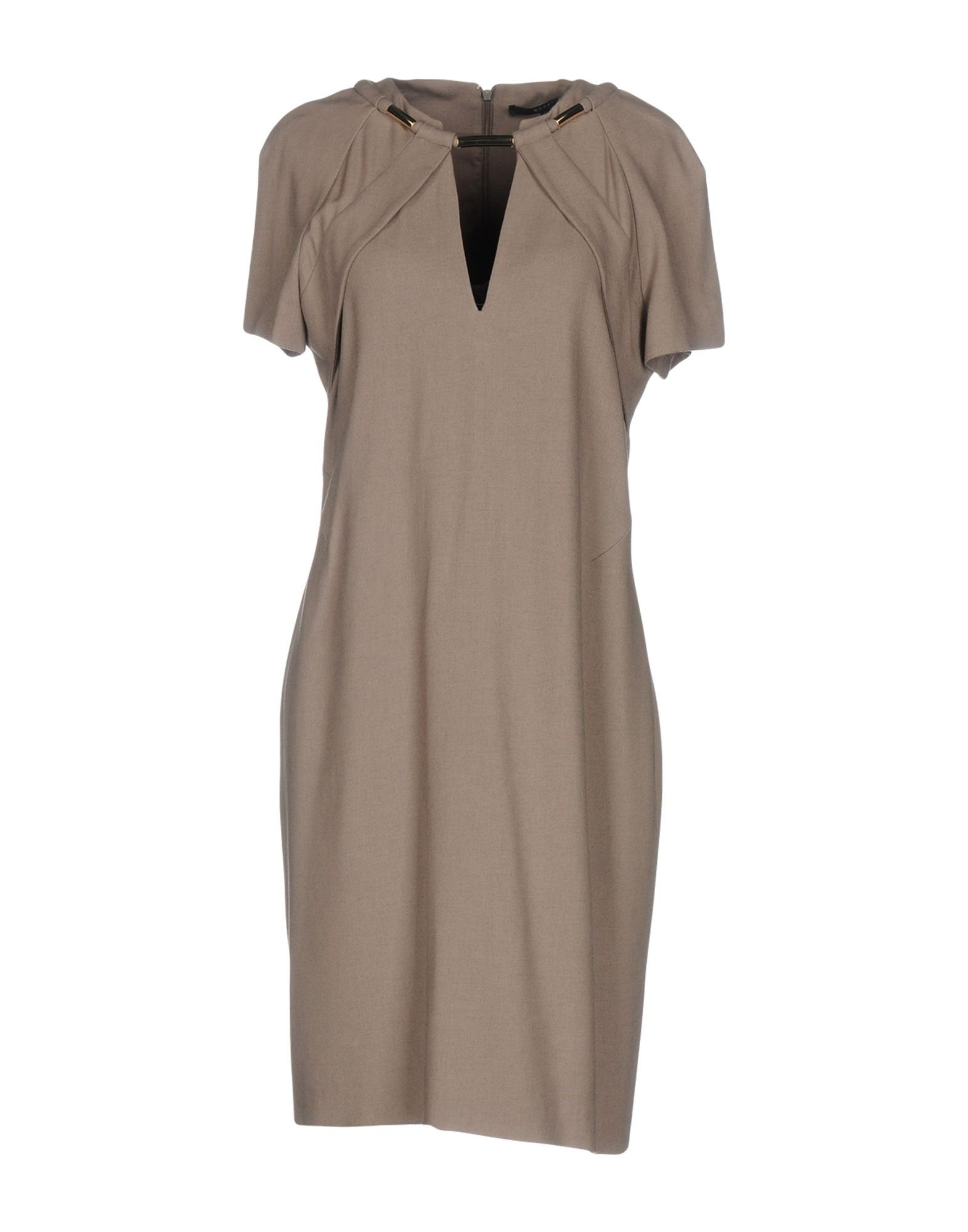GUCCI Damen Kurzes Kleid Farbe Khaki Größe 6