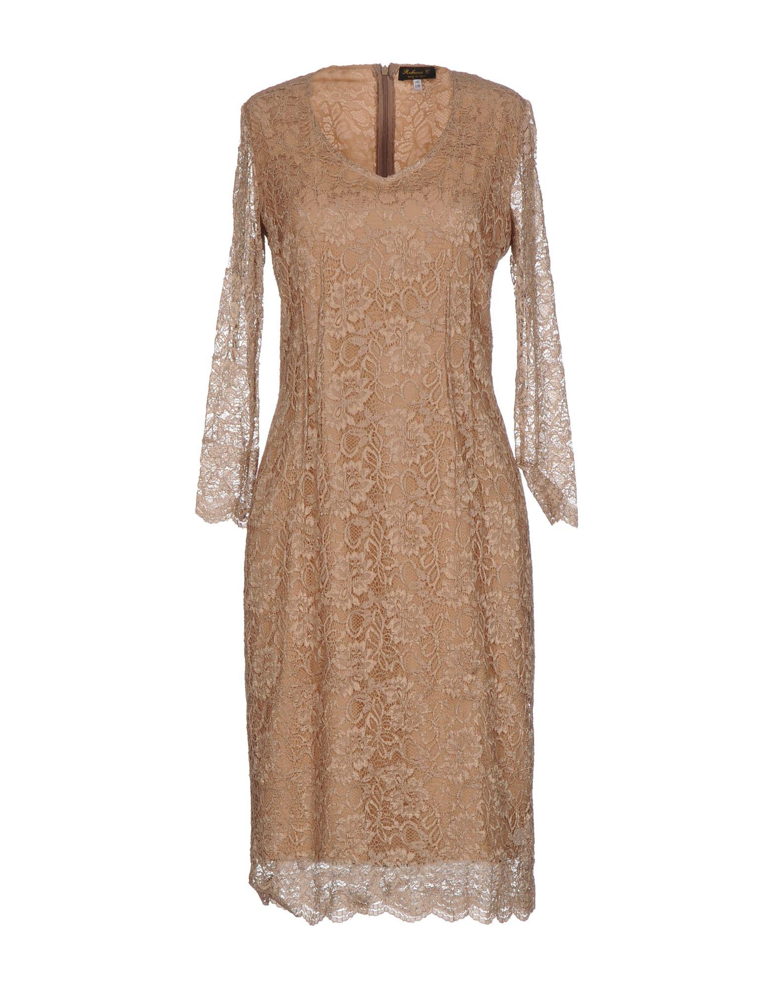 REBECCA C. Платье до колена сумка rebecca minkoff rebecca minkoff re035bwoau95