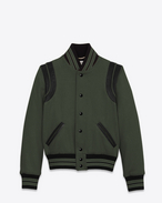 SAINT LAURENT Casual Jackets D Classic Teddy Jacket in Khaki Wool f
