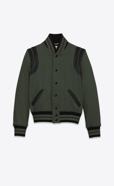 SAINT LAURENT Casual Jackets D Classic Teddy Jacket in Khaki Wool v4