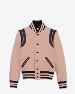 SAINT LAURENT Casual Jackets D Classic Teddy Jacket in Powder Wool f